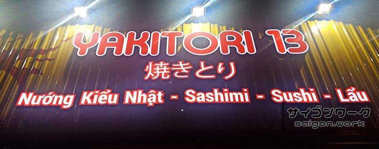 ホックモン初?の日本食屋『Yakitori13』がオープン | サイゴンワーク