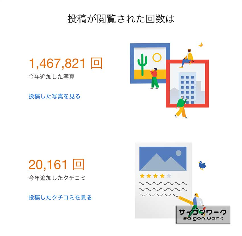 Google ローカルガイド 投稿が閲覧された回数 | サイゴンワーク